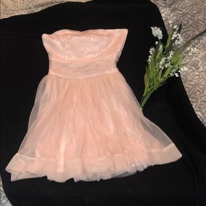 Divided ballerina princess soft pink dress